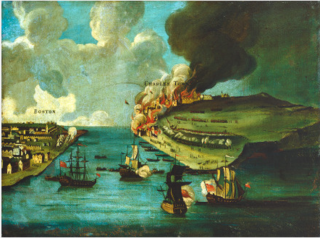 Attack on Bunker's Hill, with the Burning of Charles Town