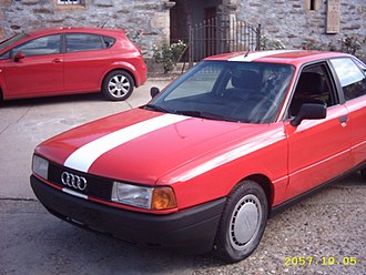 2010 Stockholm bombings - The first explosion, an Audi 80.