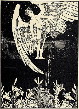 Angels in art - Auf zarten Saiten by Ephraim Moses Lilien, 1900