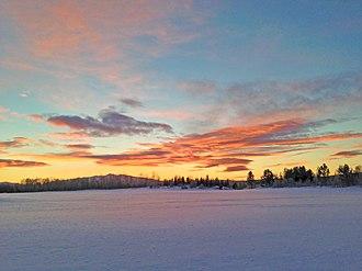Aursund - Aursund covered in snow