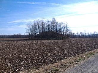 Austin Brown Mound - Roadside view