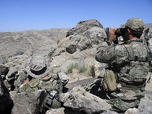 Australian Army - Two Australian soldiers during the Shah Wali Kot Offensive in Afghanistan