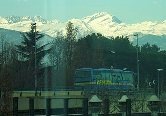 Levanna - The mountain seen from Turin Airport.
