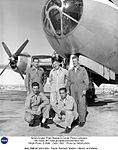 B-29 mothership with pilots - Payne, Butchart, Walker, Littleton, and Moise DVIDS701557.jpg