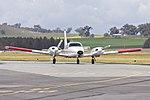 BAE Systems Australia (VH-YSA) Piper PA-34-220T Seneca taxiing at Wagga Wagga Airport.jpg