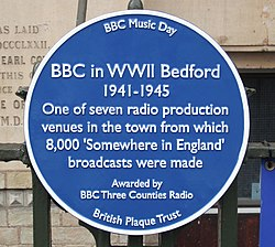 Photo of The Control Room blue plaque