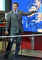 BBC weather forecast from Broadcasting House newsroom (cropped) Alex Deakin.jpg