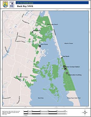 Back Bay National Wildlife Refuge - Image: BBNWR overview map