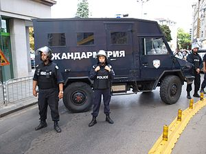 Law enforcement in Bulgaria - Riot police in Sofia.