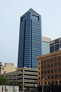 Bank of America Tower (Jacksonville) skyscraper in downtown Jacksonville, Florida, United States