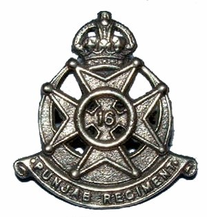 16th Punjab Regiment - Image: Badge of 16th Punjab Regiment 1922 56