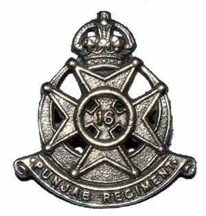 16th Punjab Regiment - Image: Badge of 16th Punjab Regiment 1922 56