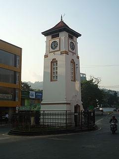 Badulla City in Sri Lanka