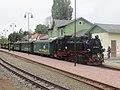 Bahnhof Moritzburg, 99 1761-8 mit Zug (6) Aufenthalt.jpg