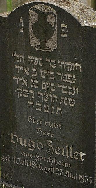 Hebrew numerals - Image: Baiersdorf Juedischer Friedhof 025 (cropped)