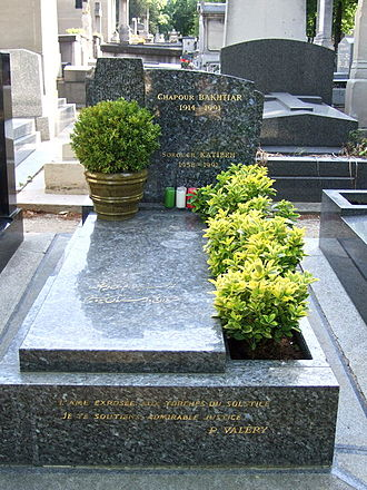 Shapour Bakhtiar - Tomb of Shapour Bakhtiar in France