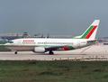 Balkan - Bulgarian Airlines Boeing 737-500 LZ-BOC LIS 1992.png