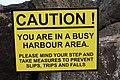 Ballycastle harbour sign, September 2010 (01).JPG