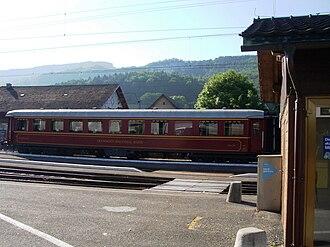 Balsthal - Dining car at Balsthal train station