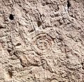 Bandelier National Monument in September 2011 - Cliff Dwellings - petroglyph 1.JPG