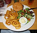Bar-91 burger, curly fries and salad.jpg