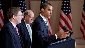 President Barack Obama with Senate Budget Comm...