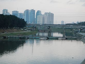 Metro Manila - Riverbanks Center with Eastwood City at the background.
