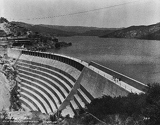 Barrett Dam - Barrett Dam, seen nearly complete in 1922