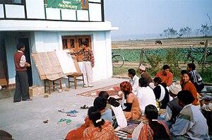 Agricultural extension - Agricultural extension meeting in Nepal, 2002
