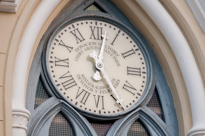File:Basilica of Our Lady of the Valley clock.jpg