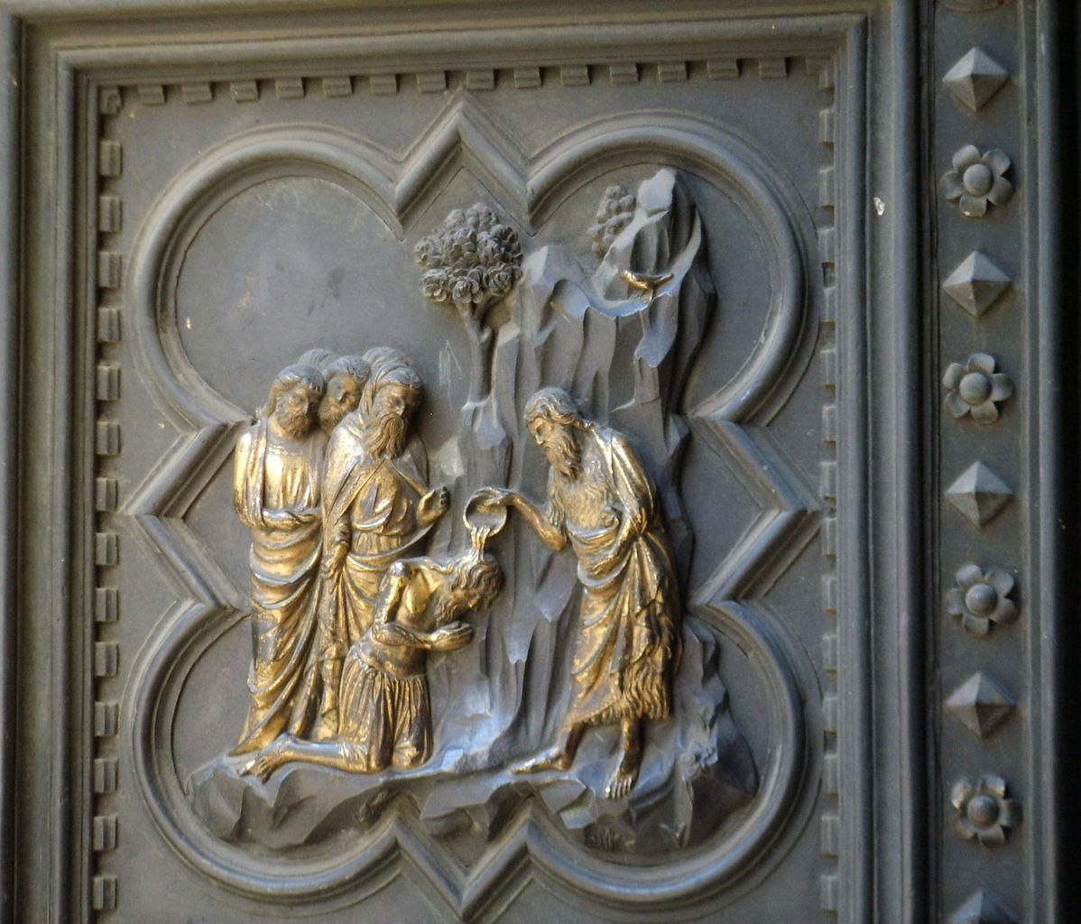 File Battistero Di Firenze Porta Sud Di Andrea Pisano 09