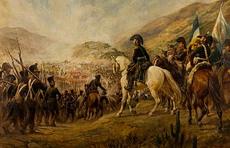 Argentine Army - Gral. José de San Martín during Battle of Chacabuco, 1817.