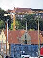 Baustelle Kompagnietor mit Kran dahinter von der Baustelle vom ehemaligen Roxy-Gelände in der Norderstraße (Flensburg 2013).JPG