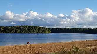 Fort Custer Recreation Area - Eagle Lake swimming beach