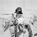 Bedoeïenenvrouw te midden van kudde dromedarissen, Bestanddeelnr 255-3418.jpg