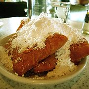 The beignets at Cafe du Monde.