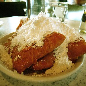 "English: ""Life"" Order of beignets wi..."