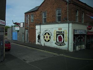 Johnny Adair - Lower Shankill C Company mural