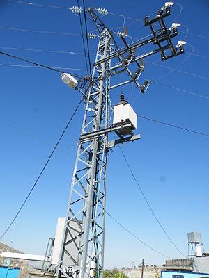 Yanun - Image: Belgian donated power grid in Yanoun Palestine
