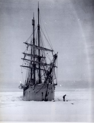 Belgian Antarctic Expedition - Belgica while trapped in the ice.
