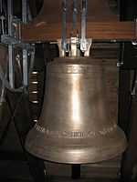 Bell of 2005Auferstehungskirche at Köln-Sürth (Cologne).jpg