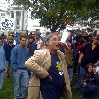 Great Midwest Marijuana Harvest Festival - Ben Masel at the 2008 festival. Masel initiated the festival in 1971 and oversaw its organization until his death.