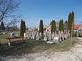 Bench and old gravestones, 2019 Ászár.jpg