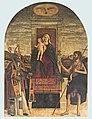 Benedetto Carpaccio - Marija na prestolu z otrokom med sv. Nikolajem in Janezom.jpg