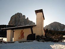 La cappella di Baumann sul Monte Pana