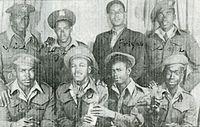 Bermuda Militia soldiers in the Caribbean Regiment