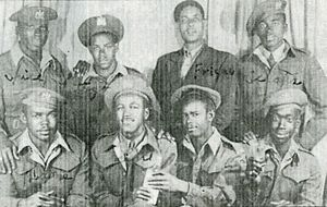 Bermuda Militia Infantry - Bermuda Militia Infantry soldiers who served with the Caribbean Regiment.