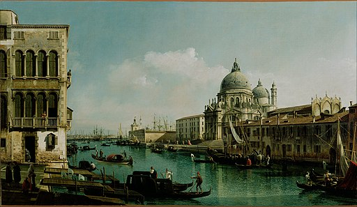Bernardo Bellotto (Italian - View of the Grand Canal and the Dogana - Google Art Project