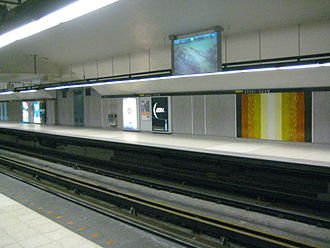 Berri-UQAM station - Yellow Line platform