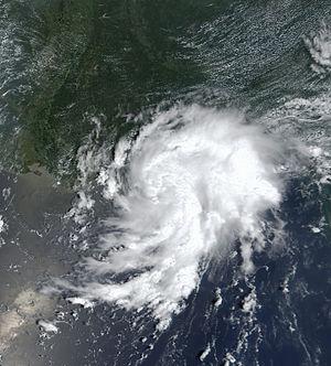 Tropical Storm Bertha (2002) - Image: Bertha 04 aug 2002 1700Z
